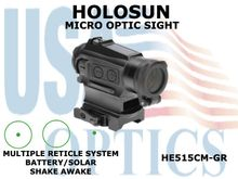 HOLOSUN MICRO OPTIC SIGHT - GREEN - BATTERY/SOLAR