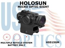 HOLOSUN MICRO OPTIC SIGHT - RED - BATTERY ONLY