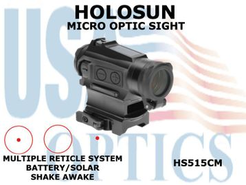 HOLOSUN MICRO OPTIC SIGHT - RED - BATTERY/SOLAR