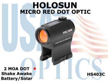 HOLOSUN MICRO RED DOT OPTIC - BATTERY/SOLAR