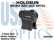 HOLOSUN MICRO RED DOT OPTIC - BATTERY ONLY