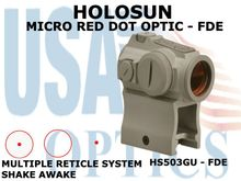 HOLOSUN MICRO RED DOT OPTIC - FDE