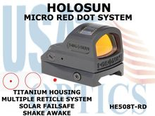 HOLOSUN MICRO RED DOT SYSTEM - TITANIUM HOUSING