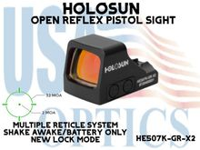 """HOLOSUN OPEN REFLEX GREEN DOT PISTOL SIGHT(PICATINNY RAIL MOUNT NOT INCLUDED)<STRONG><FONT COLOR = """"RED""""> - NEW PRODUCT</FONT><BR></STRONG>"""