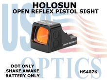 "HOLOSUN OPEN REFLEX PISTOL SIGHT (BATTERY/DOT ONLY) - RED <STRONG><FONT COLOR = ""RED"">NEW PRODUCT UPDATES - COMING SOON</FONT><BR></STRONG>"