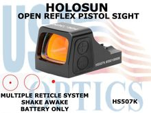 """HOLOSUN OPEN REFLEX PISTOL SIGHT - RED (BATTERY ONLY) <STRONG><FONT COLOR = """"RED"""">Expected to ship the beginning of May</FONT><BR></STRONG>"""