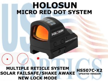 "HOLOSUN OPEN REFLEX PISTOL SIGHT - RED - BATTERY/SOLAR <STRONG><FONT COLOR = ""RED"">NEW PRODUCT UPDATES ETA = MID SEPTEMBER</FONT><BR></STRONG>"