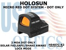 """HOLOSUN OPEN REFLEX PISTOL SIGHT - RED (DOT ONLY) - BATTERY/SOLAR  <STRONG><FONT COLOR = """"RED""""> - NEW PRODUCT UPDATES - COMING SOON</FONT><BR></STRONG>"""