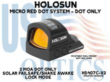 """HOLOSUN OPEN REFLEX PISTOL SIGHT - RED (DOT ONLY) - BATTERY/SOLAR - (PICATINNY RAIL MOUNT NOT INCLUDED)  <STRONG><FONT COLOR = """"RED""""> - NEW PRODUCT UPDATES</FONT><BR></STRONG>"""