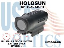 HOLOSUN OPTICAL SIGHT - RED - BATTERY ONLY - TITANIUM