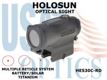 HOLOSUN OPTICAL SIGHT - RED - BATTERY/SOLAR - TITANIUM