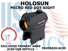 HOLOSUN PARALOW HS503G RED DOT SIGHT - ACSS CQB Reticle (PRIMARY ARMS)