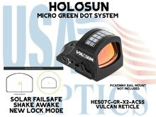 """HOLOSUN PISTOL GREEN DOT SIGHT - ACSS VULCAN RETICLE(PICATINNY RAIL MOUNT NOT INCLUDED)<STRONG><FONT COLOR = """"RED""""> - NEW PRODUCT</FONT><BR></STRONG>"""