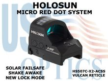 """HOLOSUN PISTOL RED DOT SIGHT - ACSS VULCAN RETICLE <STRONG><FONT COLOR = """"RED""""> - NEW PRODUCT - COMING SOON</FONT><BR></STRONG>"""