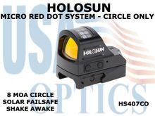 HOLOSUN MICRO RED DOT SYSTEM - CIRCLE ONLY