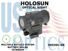 HOLOSUN OPTICAL SIGHT - GREEN - BATTERY/SOLAR - TITANIUM