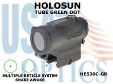 HOLOSUN TUBE GREEN DOT - TITANIUM