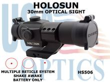 HOLOSUN 30mm OPTICAL SIGHT - RED - BATTERY