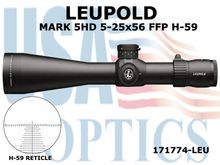 LEUPOLD MARK 5HD 5-25x56 FFP H-59 RETICLE