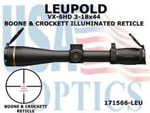 LEUPOLD VX-6HD 3-18x44mm BOONE & CROCKETT ILLUMINATED RETICLE