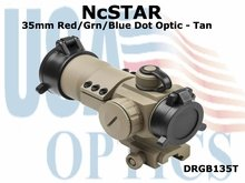 NcSTAR 35mm RED/GRN/BLUE DOT OPTIC - TAN