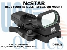 NcSTAR BLUE FOUR RETICLE REFLEX/QR MOUNT