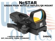 NcSTAR GREEN FOUR RETICLE REFLEX/ QR MOUNT