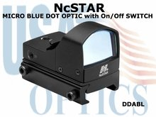 NcSTAR MICRO BLUE DOT OPTIC with On/Off SWITCH
