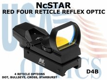 NcSTAR RED FOUR RETICLE REFLEX OPTIC