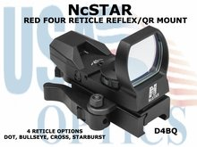 NcSTAR RED FOUR RETICLE REFLEX/ QR MOUNT