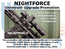 NIGHTFORCE UNIMOUNT UPGRADE PROMOTION