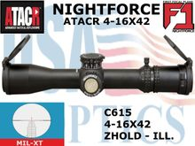 NIGHTFORCE ATACR 4-16x42 F1 MIL-XT WITH ZERO HOLD - ILLUMINATED