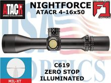 NIGHTFORCE ATACR 4-16x50 F1 MIL-XT ILLUMINATED