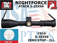 NIGHTFORCE ATACR 5-25x56 F1 MIL-XT W/ZERO HOLD - ILLUM