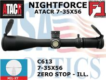 NIGHTFORCE ATACR 7-35x56 F1 MIL-XT WITH ZERO STOP - ILLUMINATED