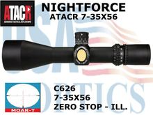 NIGHTFORCE ATACR 7-35x56 MOAR-T ZEROSTOP ILLUMINATED