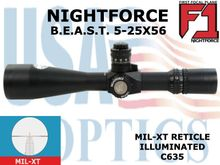 NIGHTFORCE BEAST 5-25x56 MIL-XT