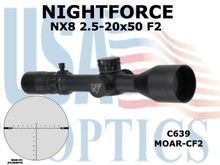 NIGHTFORCE NX8 2.5-20x50 F2 MOAR-CF2 - .25M0A