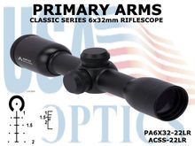 PRIMARY ARMS CLx 6x32mm RIFLE SCOPE -  ACSS-22LR