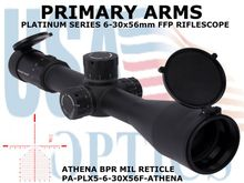 PRIMARY ARMS PLX5 6-30x56mm<BR> FFP RIFLESCOPE - ILLUMINATED ATHENA BPR MIL<BR> RETICLE