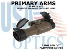 PRIMARY ARMS SILVER SERIES ADVANCED 30mm RED DOT SIGHT - FDE