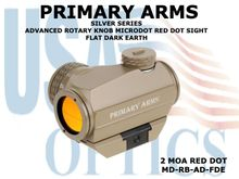 PRIMARY ARMS SILVER SERIES ADVANCED ROTARY KNOB MICRODOT RED DOT SIGHT - FDE