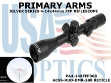 PRIMARY ARMS SLx3.5 4-14x44mm<BR>FFP RIFLE SCOPE - ILLUMINATED ACSS-HUD-DMR-308 RETICLE
