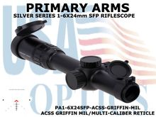 PRIMARY ARMS SLx6 1-6x24mm SFP RIFLE SCOPE GEN III - ACSS GRIFFIN MIL/MULTI-CALIBER RETICLE