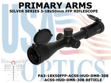 PRIMARY ARMS SLx6 3-18x50mm FFP RIFLE SCOPE - ILLUMINATED ACSS-HUD-DMR-308 RETICLE