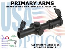 PRIMARY ARMS SLx8 1-8x24mm SFP RIFLE SCOPE - ILLUMINATED ACSS-5.56