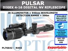 PULSAR DIGEX DIGITAL NIGHTVISION RIFLESCOPE - N455