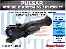 PULSAR DIGISIGHT ULTRA N450 DIGITAL NIGHTVISION RIFLESCOPE