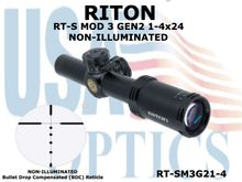 RITON RT-S MOD 3 GEN2 1-4x24 - NON-ILLUMINATED