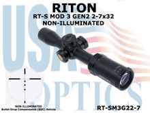 RITON RT-S MOD 3 GEN2 2-7x32 NON-ILLUMINATED